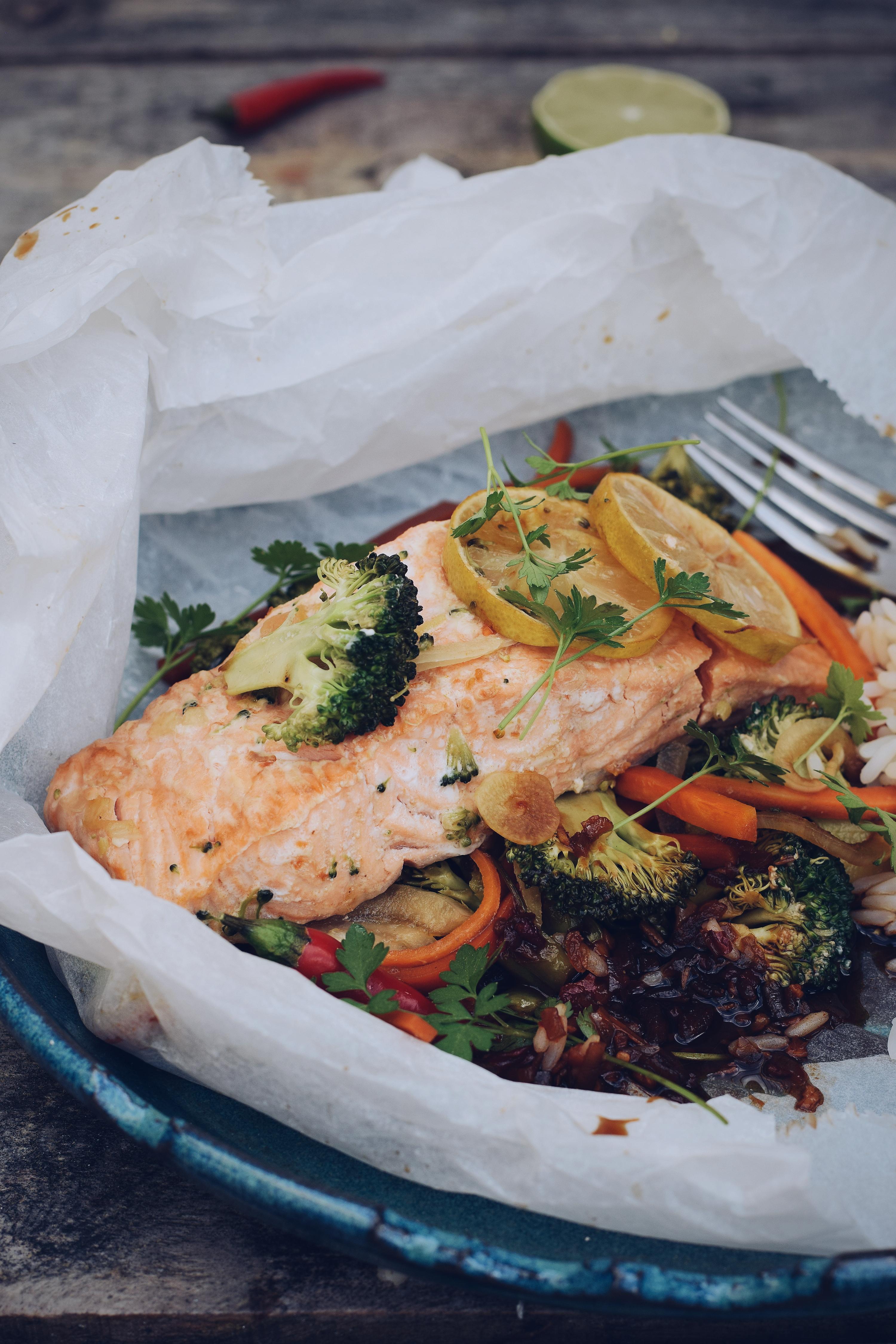 apilotte met zalm en brocoli