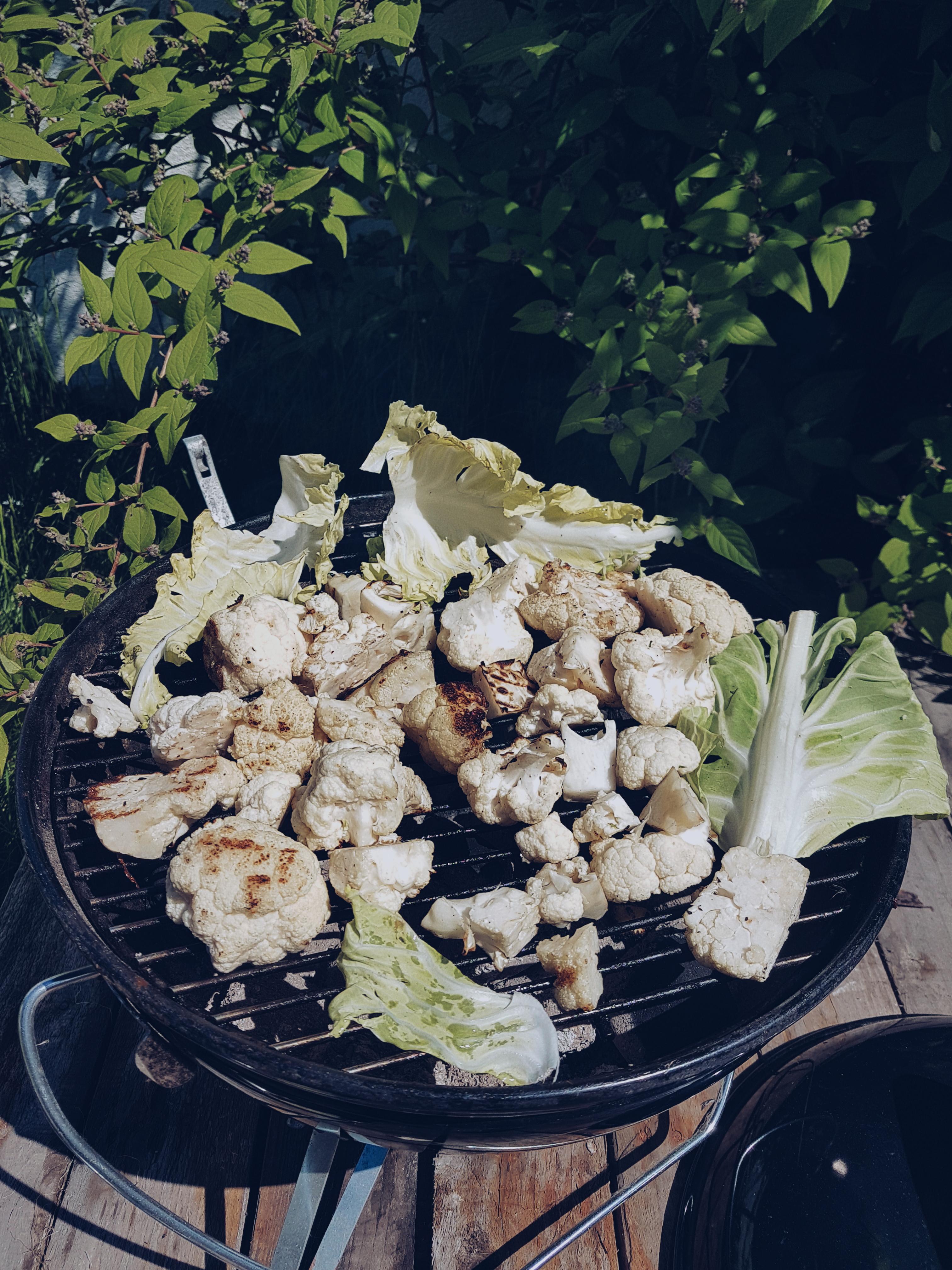bloemkool op de barbecue