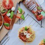Pizza bolognese gezichtjes