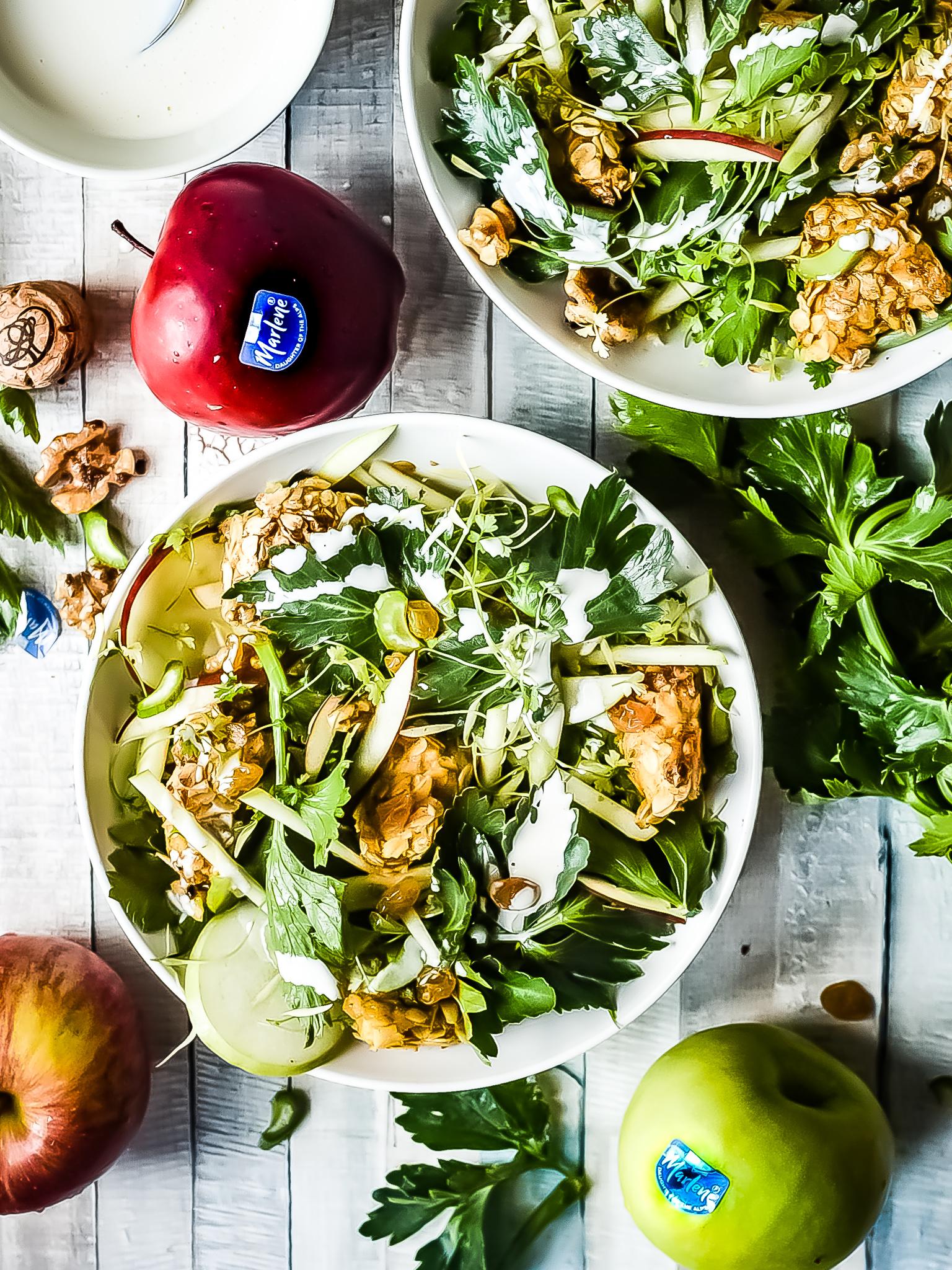 Genoeg Waldorf salade met krokante kip, cava dressing en Marlene appels @PH42