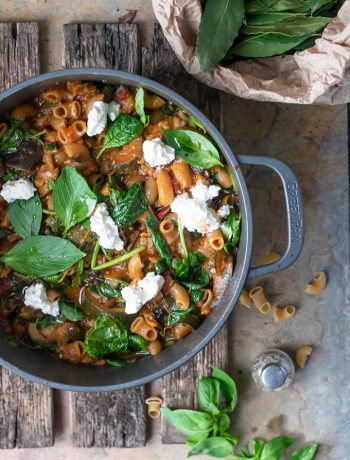pastaschotel met spinazie