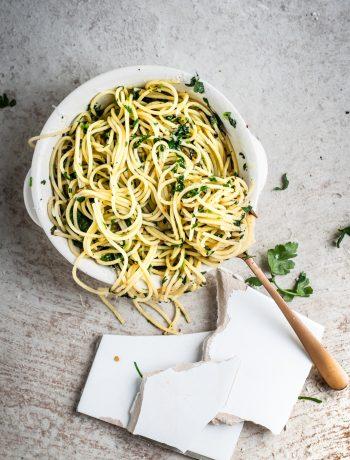 Spaghetti met look