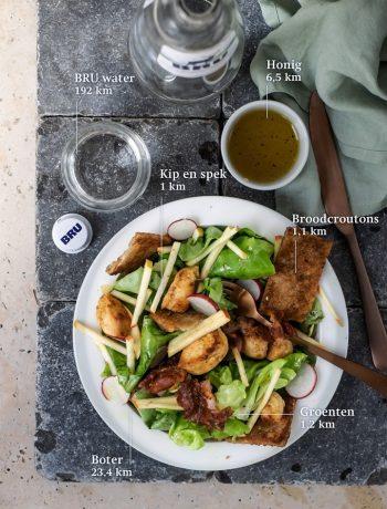 Salade met kip en appel